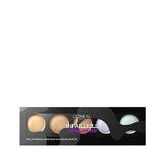 Консилер L'Oreal Paris Infaillible Total Cover Camouflage Concealer Palette корректоры the saem cover perfection concealer foundation spf50 pa 1 5