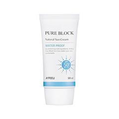 Защита от солнца A'pieu Pure Block Natural Waterproof Sun Cream SPF50+ / PA+++ (Объем 50 мл) тональный крем tony moly triple water proof perfection bb cream spf50 pa 50 г