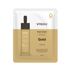Тканевая маска Vprove Mask Master Oil Sheet Gold (Объем 20 мл) тканевая маска vprove phyto therapy mask sheet green tea flavonoid purity объем 20 мл