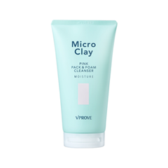Пенка Vprove Micro Clay Pink Pack & Foam Cleanser Moisture (Объем 150 мл) missha micro bubble foam cleanser mild объем 250 мл