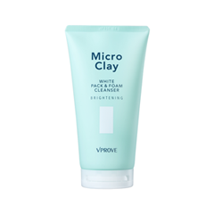 Пенка Vprove Micro Clay White Pack & Foam Cleanser Brightening (Объем 150 мл)