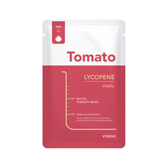 Тканевая маска Vprove Phyto Therapy Mask Sheet Tomato Lycopene Vitality (Объем 20 мл) lycopene 40 mg supports prostate