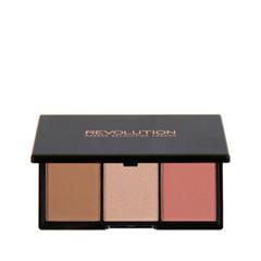 Для лица Makeup Revolution Iconic Blush, Bronze & Brighten Palette Rave (Цвет Rave variant_hex_name AF7A5B)