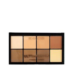 Для лица Makeup Revolution Палетка для контурирования HD Pro Powder Contour Light Medium (Цвет Light Medium variant_hex_name F3BF86)