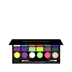 Для глаз Makeup Revolution Salvation Palette Colour Chaos (Цвет Colour Chaos variant_hex_name E0FC35) makeup revolution redemption palette iconic 2 тени для век в палетке 12 тонов 13 г