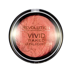 Хайлайтер Makeup Revolution Vivid Baked Highlighters Rose Gold Lights (Цвет Rose Gold Lights variant_hex_name D38781) бронзатор makeup revolution vivid baked bronzer ready to go цвет ready to go variant hex name cf866a