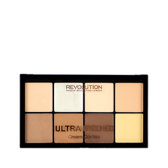 все цены на  Для лица Makeup Revolution Палетка для контурирования HD Pro Cream Contour Fair (Цвет Fair variant_hex_name FEDEB8)  онлайн