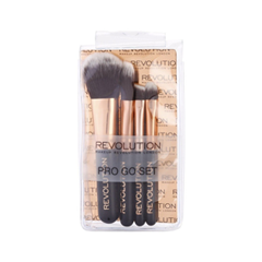 Набор кистей для макияжа REVOLUTION Makeup Pro Go Mini Brush Set 5pcs 7pcs 10pcs new brand makeup brushes set spiral handle cosmetic foundation eyeshadow blusher powder blending brush