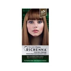 Перманентное окрашивание Richenna Color Cream 6N (Цвет 6N Light Chestnut variant_hex_name 664A35) недорого