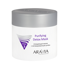 Очищение Aravia Professional Очищающая маска с активированным углём Purifying Detox Mask (Объем 150 мл) маска matis clay mask balancing and purifying mask объем 50 мл