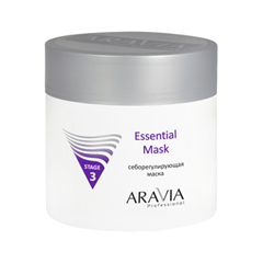 Маска Aravia Professional Себорегулирующая маска Essential Mask (Объем 300 мл) aravia professional essential mask себорегулирующая маска 300 мл