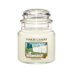Ароматическая свеча Yankee Candle Clean Cotton Medium Jar Candle (Объем 411 г) 411 мл kit thule citroen ds4 5 dr hatchback 11 ds4 crossback 5 dr hatchback 16
