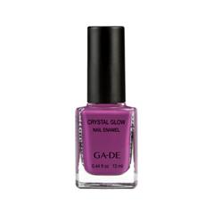Лак для ногтей Ga-De Crystal Glow Nail Enamel 408 (Цвет  Wild Iris variant_hex_name 7A2F68)