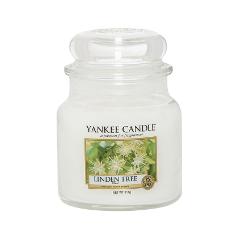 Ароматическая свеча Yankee Candle Linden Tree Medium Jar Candle (Объем 411 г) 411 мл ароматическая свеча yankee candle pink sands medium jar candle объем 411 г
