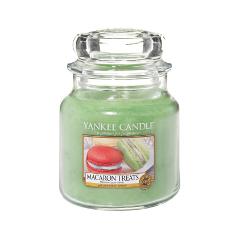 Ароматическая свеча Yankee Candle Macaron Treats Medium Jar Candle (Объем 411 г) 411 мл ароматическая свеча yankee candle pink sands medium jar candle объем 411 г
