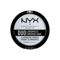 Хайлайтер NYX Professional Makeup Duo Chromatic Illuminating Powder 01 (Цвет DCIP01 Twilight Tint variant_hex_name D7DAE1) пудры nyx professional makeup финишная пудра nofilter finishing powder golden 11