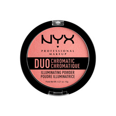 Хайлайтер NYX Professional Makeup Duo Chromatic Illuminating Powder 03 (Цвет DCIP03 Crushed Bloom variant_hex_name D6968A)