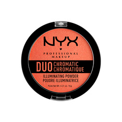 Хайлайтер NYX Professional Makeup Duo Chromatic Illuminating Powder 05 (Цвет DCIP05 Synthetica variant_hex_name E48363) пудры nyx professional makeup финишная пудра nofilter finishing powder golden 11