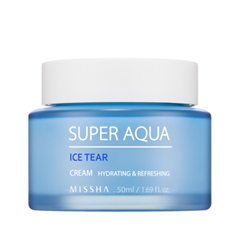 Крем Missha Super Aqua Ice Tear Cream (Объем 50 мл) missha super aqua refreshing cleansing foam объем 200 мл