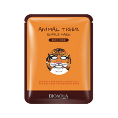 Тканевая маска BioAqua Animal Tiger Supple Mask (Объем 30 г) тканевая маска bioaqua animal tiger supple mask объем 30 г