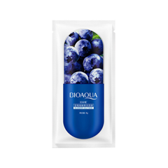 Ночная маска BioAqua Blueberry Jelly Mask (Объем 8 г) нolika holika ночная маска для лица pig collagen jelly pack 80 г