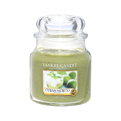 Ароматическая свеча Yankee Candle Cuban Mojito Medium Jar Candle (Объем 411 г) ароматическая свеча yankee candle cuban mojito medium jar candle объем 411 г