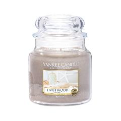 Ароматическая свеча Yankee Candle Driftwood Medium Jar Candle (Объем 411 г) ароматическая свеча yankee candle cuban mojito medium jar candle объем 411 г