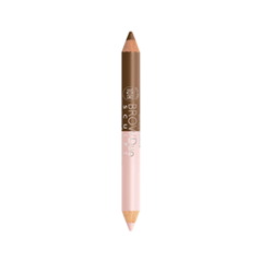 Карандаш для бровей Bourjois Brow Duo Sculpt 22 (Цвет 22 Chestnut variant_hex_name 97705C) benefit high brow карандаш под бровь high brow карандаш под бровь
