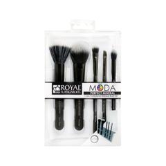 Набор кистей для макияжа Royal & Langnickel Moda™ Black Perfect Mineral Set fabrik cosmetology кисть для нанесения макияжа
