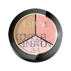 Для лица Eveline Cosmetics Contour Sensation 01 (Цвет 01 Pink Beige variant_hex_name F1AFA8) vitalis 12 sensation презервативы с кольцами и точками