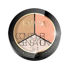 Для лица Eveline Cosmetics Contour Sensation 02 (Цвет 02 Peach Beige variant_hex_name F7B395) vitalis 12 sensation презервативы с кольцами и точками