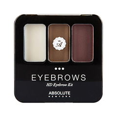 Набор для бровей Absolute New York HD Eyebrow Kit 02 (Цвет AEBK02 Auburn variant_hex_name 936F57) корректор absolute new york hd cover stick 05 цвет 05 apricot beige variant hex name d4a182