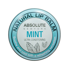 Цветной бальзам для губ Absolute New York Natural Lip Balm 02 (Цвет ANB02 Mint variant_hex_name 90BFC0) cherie cherie lip balm mint