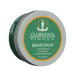Борода и усы Clubman Pinaud Бальзам-фиксатор Beard Balm (Объем 59 г) dear beard щетка из древесины венге для усов и бороды 8 4 см