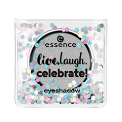 Тени для век essence Live.Laugh.Celebrate! Eyeshadow 04 (Цвет 04 It's My Birthday  variant_hex_name B7B7B8) тени для век essence quattro eyeshadow 13 цвет 13 laugh love lime variant hex name 438894