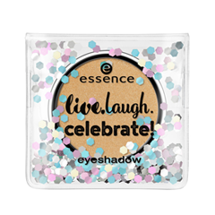 Тени для век essence Live.Laugh.Celebrate! Eyeshadow 07 (Цвет 07 The Sun Is Shining  variant_hex_name D6AC7A) тени для век essence quattro eyeshadow 13 цвет 13 laugh love lime variant hex name 438894