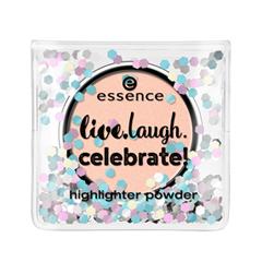 Хайлайтер essence Live.Laugh.Celebrate! Highlighter Powder (Цвет 01 Best Friends Are Forever  variant_hex_name DCC3C3) тени для век essence live laugh celebrate eyeshadow 01 цвет 01 best friends are forever variant hex name dcc3c3