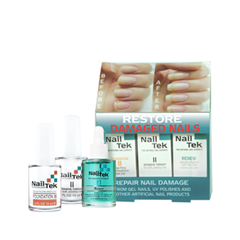 Уход за ногтями NailTek Набор Restore Damaged Nails Kit (Объем 3*15 мл) купить бу набор для наращивания ногтей