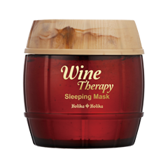 Ночная маска Holika Holika Wine Therapy Sleeping Mask Red Wine (Объем 120 мл) holika holika маска желе винная ночная красное вино вайн терапи wine therapy sleeping mask red wine 120мл