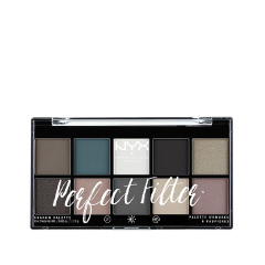 Для глаз NYX Professional Makeup Perfect Filter Shadow Palette Gloomy Days (Цвет Gloomy Days variant_hex_name 736960) тени nyx professional makeup палетка теней perfect filter shadow palette golden hour 01