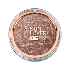 Бронзатор Catrice Sun Lover Glow Bronzing Powder (Цвет 010 Sun-Kissed Bronze variant_hex_name C09E93) пудра catrice healthy look mattifying powder 010 цвет 010 luminous light variant hex name facab6
