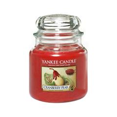 Ароматическая свеча Yankee Candle Cranberry Pear Medium Jar Candle (Объем 411 г) 411 мл свечи yankee candle свеча средняя в стеклянной банке мандарин и клюква mandarin cranberry 411 гр 65 90 часов