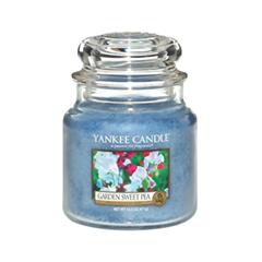 Ароматическая свеча Yankee Candle Garden Sweet Pea Medium Jar Candle (Объем 411 г) майка женская insight sweet pea tank floyd black