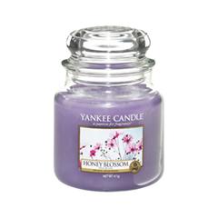Ароматическая свеча Yankee Candle Honey Blossom Medium Jar Candle (Объем 411 г) 411 мл автомобильные ароматизаторы yankee candle авто ароматизатор стик ночной жасмин car vent stick midnight jasmine