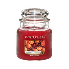 Ароматическая свеча Yankee Candle Mandarin Cranberry Medium Jar Candle (Объем 411 г) 411 мл свечи yankee candle свеча средняя в стеклянной банке мандарин и клюква mandarin cranberry 411 гр 65 90 часов