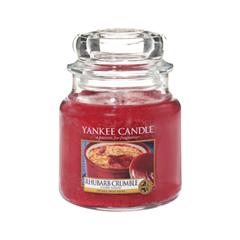 Ароматическая свеча Yankee Candle Rhubarb Crumble Medium Jar Candle (Объем 411 г) ароматическая свеча yankee candle cuban mojito medium jar candle объем 411 г