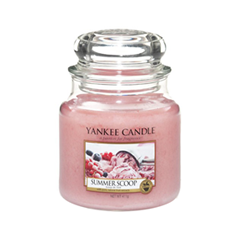 Ароматическая свеча Yankee Candle Summer Scoop Medium Jar Candle (Объем 411 г) свечи yankee candle свеча маленькая в стеклянной банке сказочные летниe ночи dreamy summer night 104гр 25 45 часов