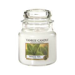 Ароматическая свеча Yankee Candle White Tea Medium Jar Candle (Объем 411 г) 411 мл ремень carpenter carpenter mp002xm0m12x