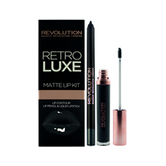 Жидкая помада REVOLUTION Makeup Набор для макияжа губ Retro Luxe Kits Matte Magnificent (Цвет Magnificent variant_hex_name 243B41) new 12 inch touch screen glass for sms mp370 mp370 12 6av6 545 0da10 0ax0 lcd touch hmi panel glass
