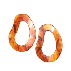 Серьги Aloud Желто-коричневые серьги-овалы